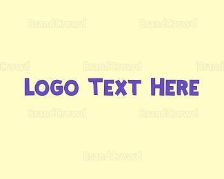 Learning Center - Purple Cute Text logo design