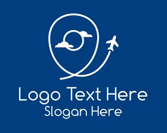 Flight Tracker - Air Travel Location logo design