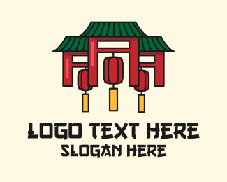 Vietnamese - Asian House Temple logo design
