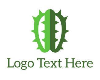 Sahara - Brain Cactus logo design