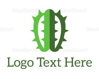 Cactus - Brain Cactus logo design
