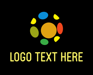 Internet Web Colorful Ball logo design