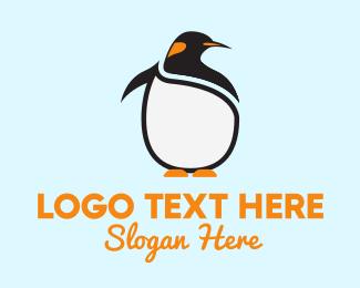 Penguin - Fat Penguin logo design