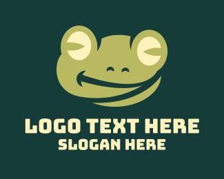 Amphibian - Smiling Frog logo design