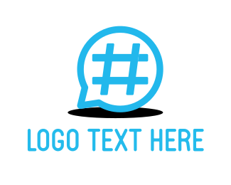 Tag - Hashtag & Chat logo design