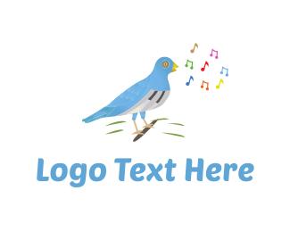 Musical Instrument - Musical Bird logo design