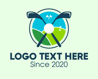 Golf Resort - Golf Course Hill logo design