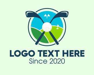 Golf Course - Golf Course Hill logo design
