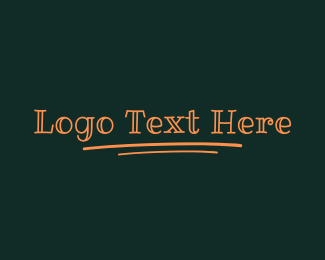 Lesson - Kid Writing Wordmark logo design