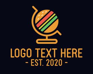 Bun - Global Burgers logo design