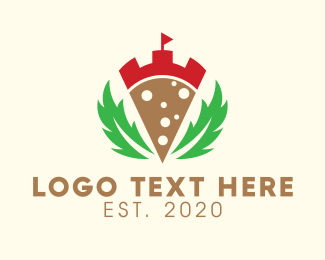 New York - Laurel Pizza Castle logo design