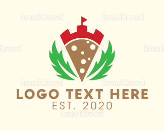 Dining - Laurel Pizza Castle logo design
