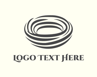 Tornado - Abstract Nest logo design