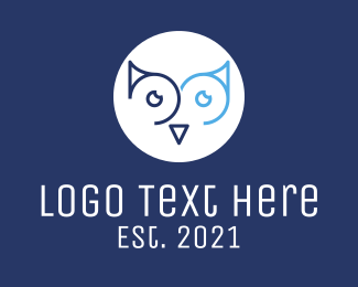 Eyes - Minimalist Owl Eyes logo design