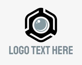 Shoot - Hexagon Photo logo design
