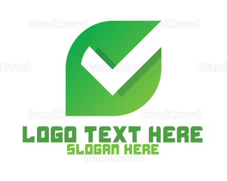 Checklist - Modern Leaf Check logo design