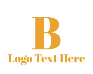 """Golden B"" by BrandCrowd"