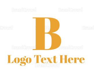 Fortune - Golden B logo design