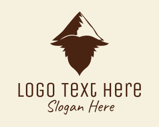 Mens Grooming - Hipster Mountain Beard  logo design