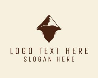 Mountain - Hipster Mountain Beard logo design
