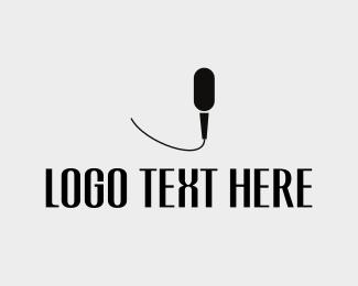 Speaker - Black Mic logo design
