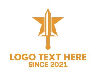 Sword - Star Sword logo design