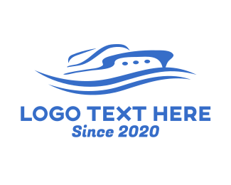 Marine - Luxury Boat Cruise Ship logo design