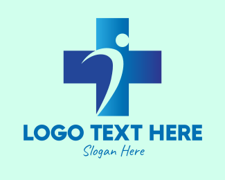 Health Care Worker - Hospital Medical Cross logo design
