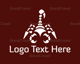 Venom - White Scorpion logo design