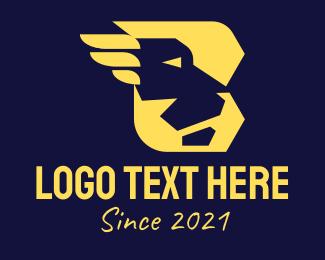 Cheetah - Modern B Lion logo design