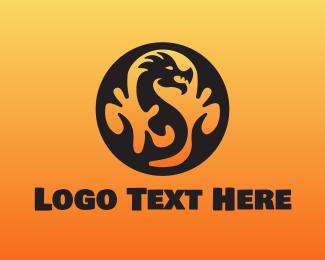 China Town - Smoke Dragon logo design
