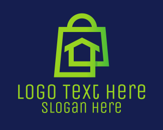 Suburban - Green Home Shopping  logo design