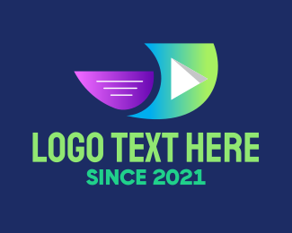 Youtube - Flying Youtube Vlog logo design