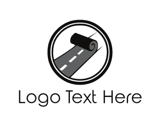 Pathway - Road Roll logo design