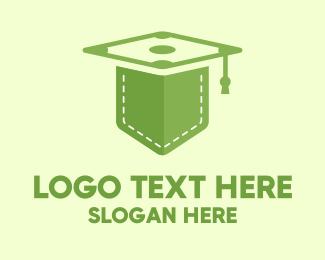 Online Learning - Green Pocket Graduation logo design