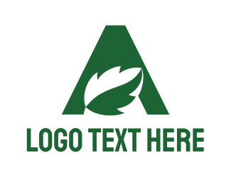 """""""Green Eco Letter A"""" by town"""