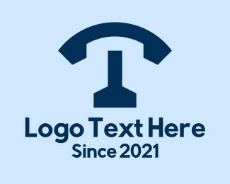 Letter - Telephone Letter T logo design