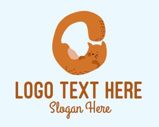 Playful - Playful Cat Letter O  logo design