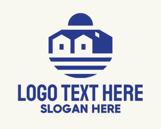 Hospitality - Mediterranean House Seaside logo design