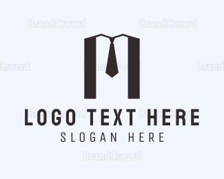 Bachelor - M Suit logo design