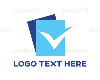 Approval - Blue Check List logo design