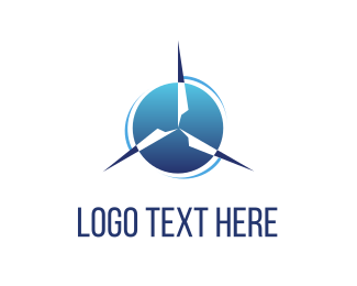 Three - Wind Power logo design