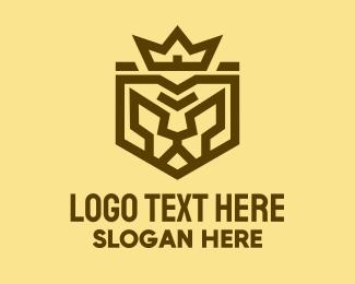 Leopard - Warrior Lion King Emblem logo design