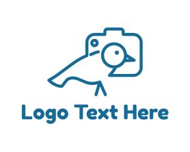 Little - Little Bird Camera logo design