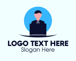Work At Home - Stay Home Office logo design