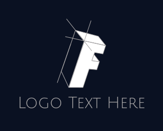 Drawing - Isometric Letter F logo design
