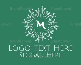 Agricultural - Mint Mandala Pattern Lettermark logo design