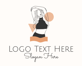 Underwear - Fashion Model Woman  logo design