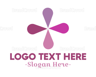 Blue And Purple - Minimalist Purple Flower logo design