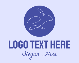 Animal Rehabilitation - Violet Minimalist Rabbit  logo design